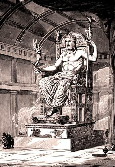 pictures of zeus god. Zeus God on his throne